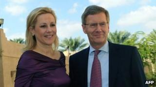 German President Christian Wulff and his wife Bettina on a visit to Oman on 9 December 2011