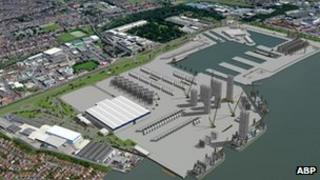 Artist's impression of new factory
