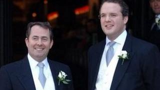 Liam Fox (l) and Adam Werritty