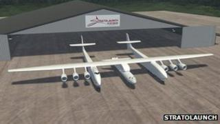 Stratolaunch aircraft rendering