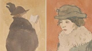 Gwen John watercolour. Reproduced courtesy of the Princeton University Library, Manuscripts Division.