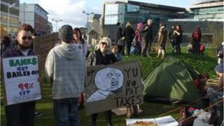 Occupy Plymouth in Jigsaw Garden