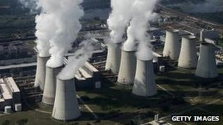 Jaenschwalde coal-fired power plant in Germany, 20 Aug 10