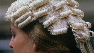 lawyer wearing a wig