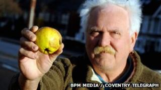 Keresley resident Dave Meakins with apple