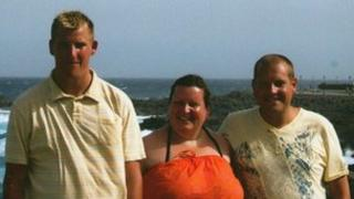 Shaun, Sharon and Chris Rossington