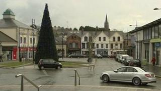 The 12-metre tree in Downpatick town centre was vandalised