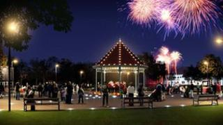 An artist's impression of the new bandstand