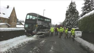 Car and bus crash