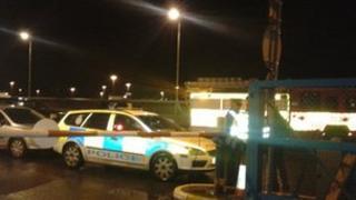Police arrive at Ipswich Docks