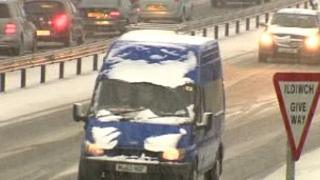 The A55 in north Wales was affected on Friday