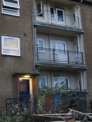 The fire was at the second floor flat in the Mayfield area of Dalkeith