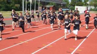 Bury St Edmunds leisure centre athletics track