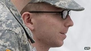 Bradley Manning arrives at the hearing. 18 Dec 2011