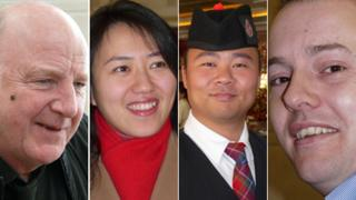 Bruce Connolly, Dr Qian Liu, George Tian and Martin Patience