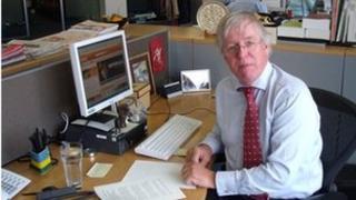 Dave Hartnett at HMRC's offices
