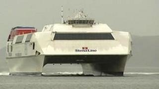 The Stena HSS travelled between Belfast and Stranraer until the Scottish port closed in November