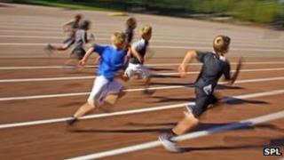 Children at a school sports day