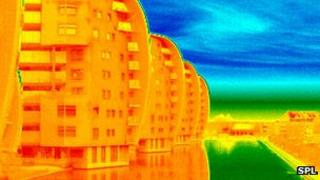 Thermogram of flats