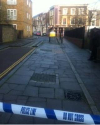 The murder scene in Holloway