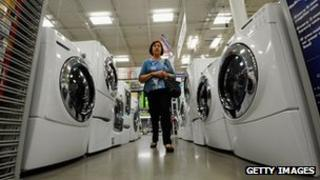White goods on sale in America