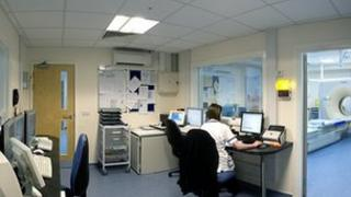 Control room for the two scanners