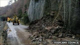 Landslide on A890. Pic: Highland Council