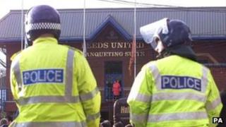 Mounted police at Elland Road