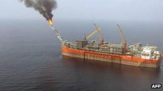 The Bonga oil field platform, picture 5 February 2008