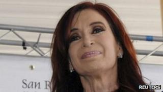 Argentine President Cristina Fernandez, 16 December 2011