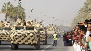 Armoured vehicles on parade on Qatar's National Day (18 December 2011)