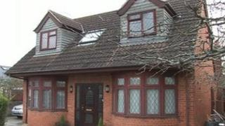 House in Manor Crescent, Didcot, where fire broke out