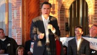 Mitt Romney speaking in Muscatine, Iowa, 28 December 2011