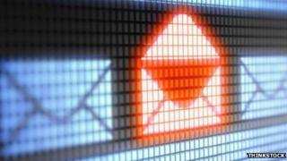 A digitised email folder