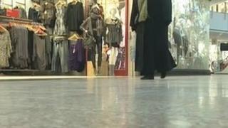 A shopper inside The Mall at Cribbs Causeway