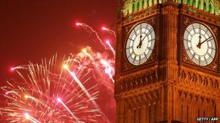 Big Ben on New Year's Eve