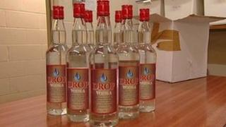 Some of the seized counterfeit bottles