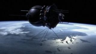 Graphic of a Vostok spaceship