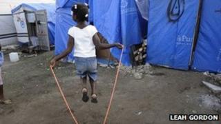 Temporary camp at Leogane