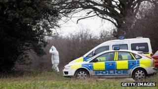 A police forensic scientist works at the scene where human remains were found in Kings Lynn, Norfolk (Photo: Christopher Furlong/Getty Images)