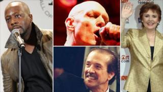 Clockwise: Wyclef Jean, Peter Garrett, Dana, Sonny Bono