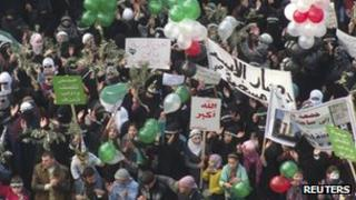 Demonstration in Idlib January 2, 2012