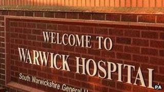 Warwick Hospital entrance - PA