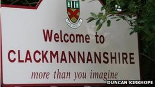 Clackmannanshire sign