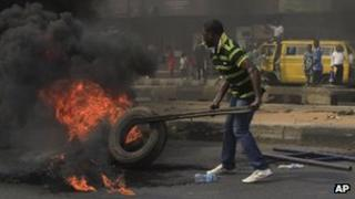Protests in Lagos against fuel price rises (3 January)