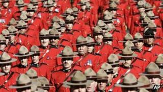 File photo of RCMP officers 10 March 2005
