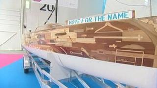 Olympic boat made from wooden donations