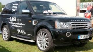 Seized Range Rover