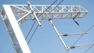 Network Rail overhead cables