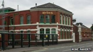 Hydes Brewery on Moss Lane West